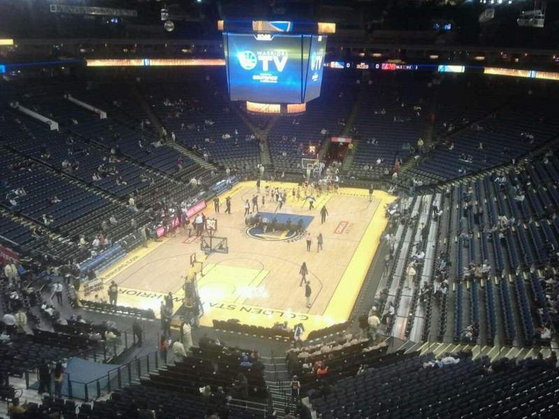 Seating view for Oracle Arena Section 223 Row 1 Seat 4