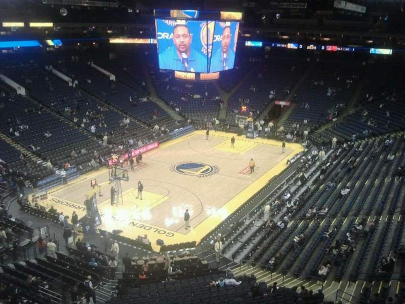 Seating view for Oracle Arena Section 221 Row 1 Seat 12