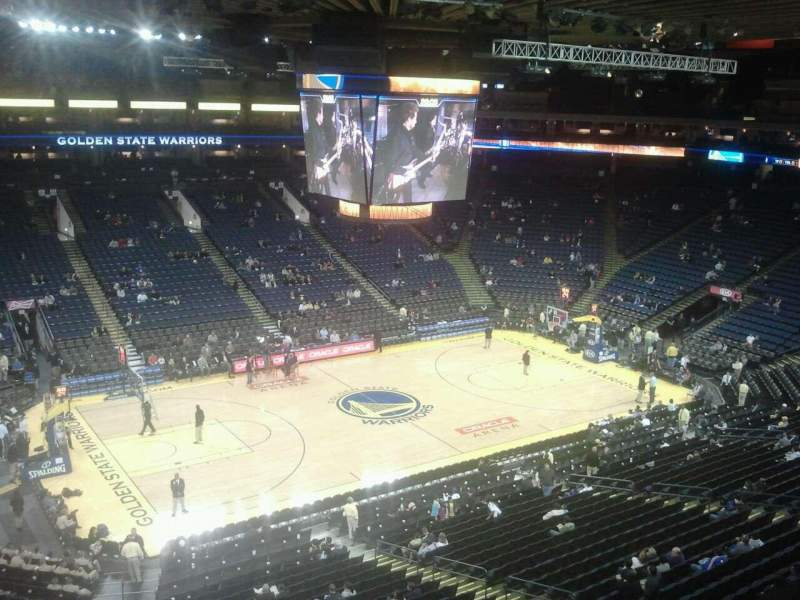 Seating view for Oracle Arena Section 219 Row 1 Seat 8
