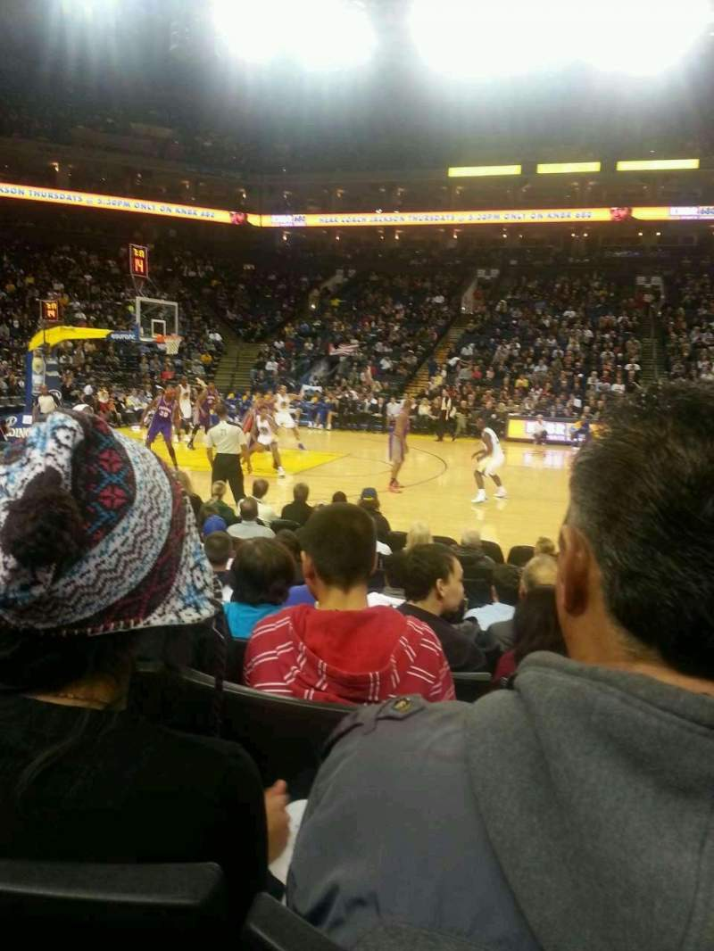 Seating view for Oracle Arena Section 115 Row 4 Seat 3