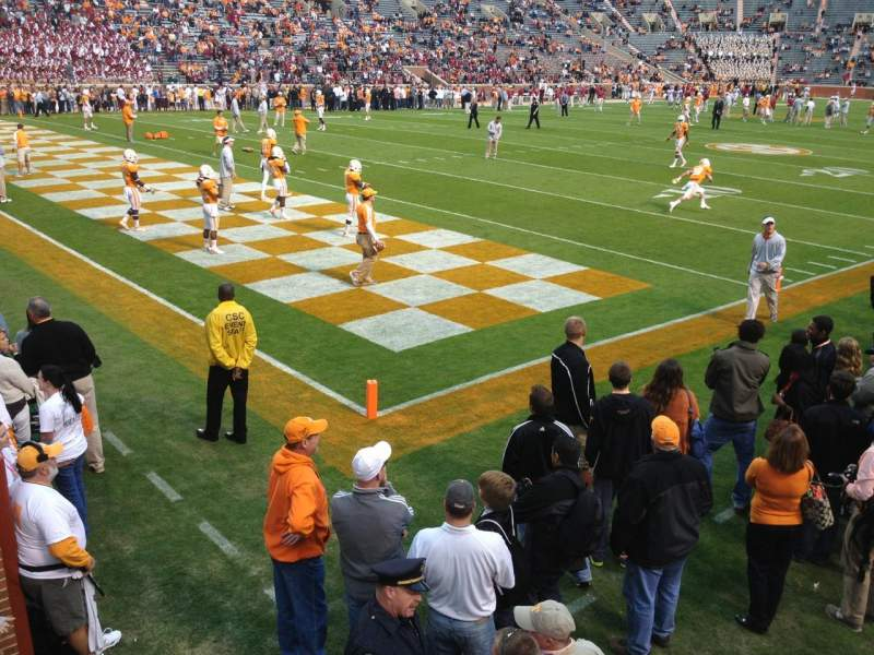 Seating view for Neyland Stadium Section X5 Row 1 Seat 13-14