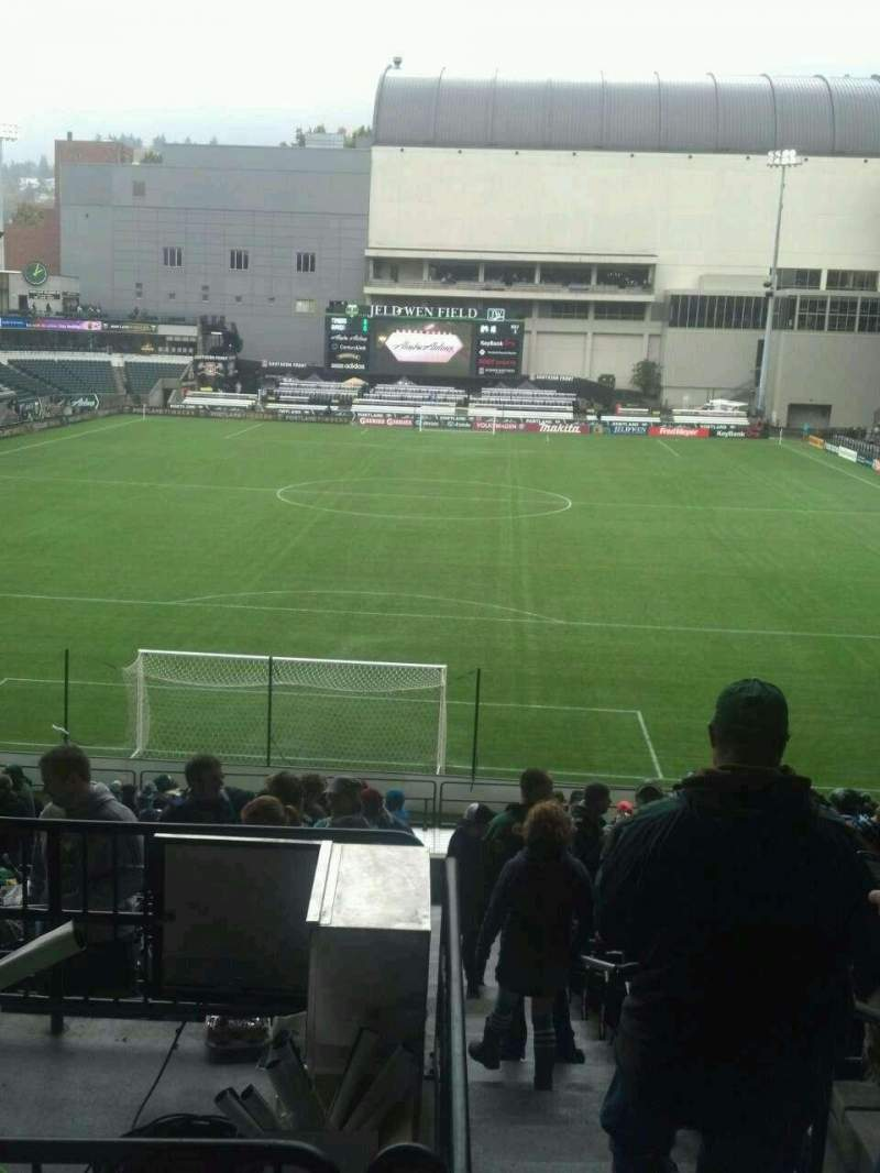 Seating view for Providence Park Section 207 Row a Seat 3