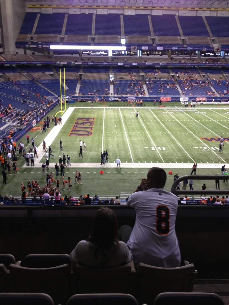 Seating view for Alamodome Section 216 Row 4 Seat 2