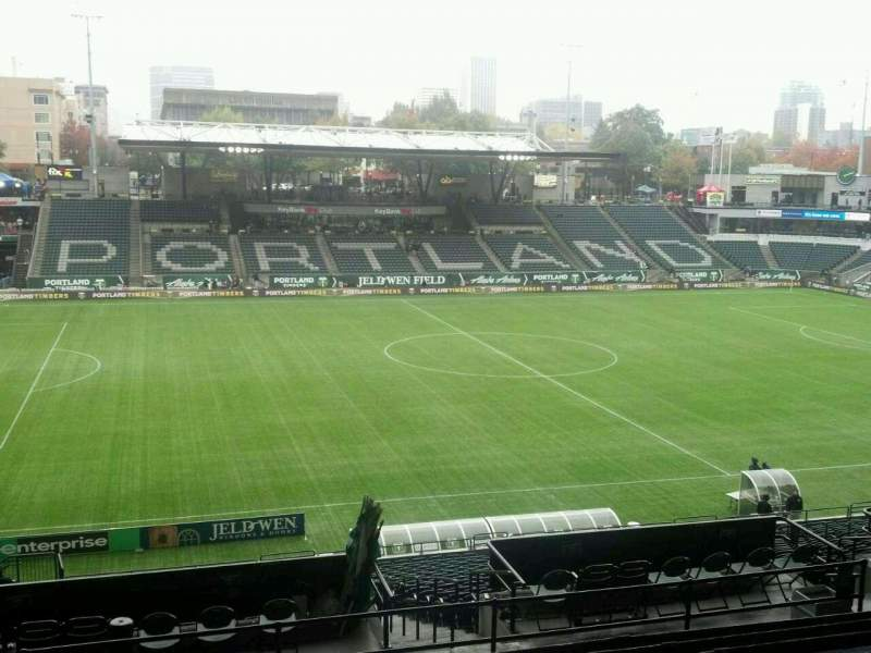 Seating view for Providence Park Section 216 Row k Seat 5