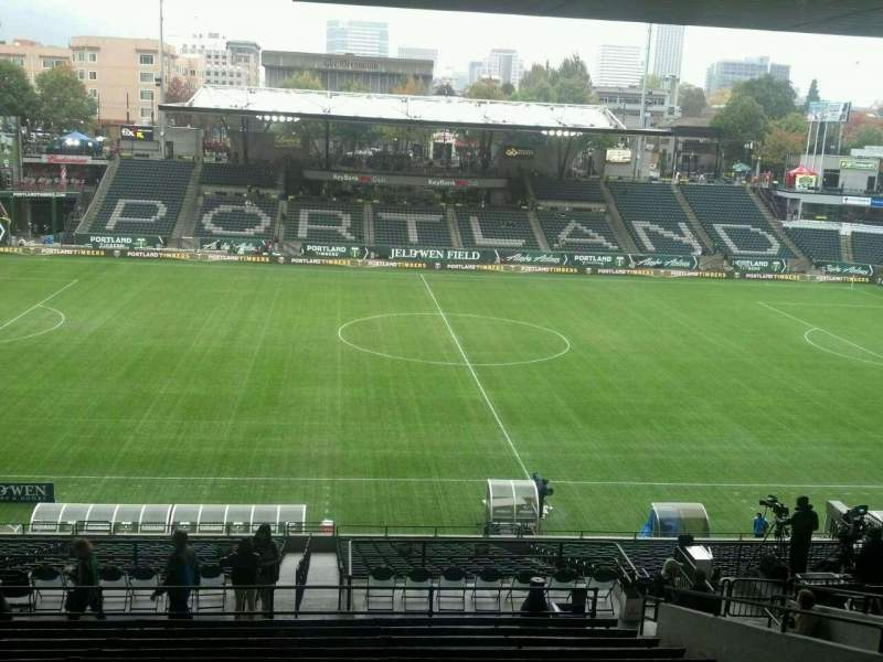 Seating view for Providence Park Section 217 Row Q Seat 15