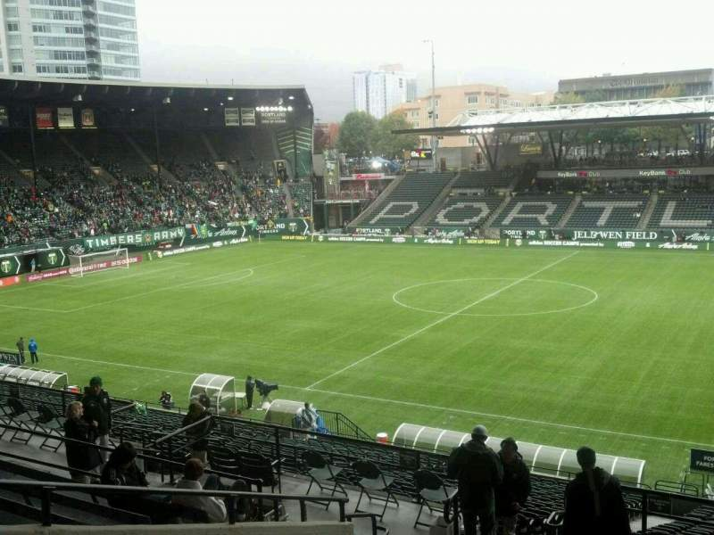 Seating view for Providence Park Section 220 Row I Seat 2