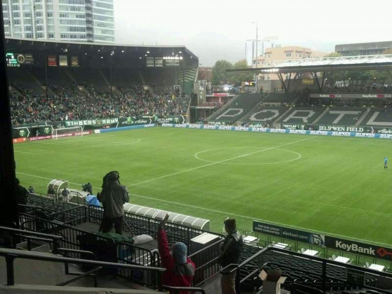Seating view for Providence Park Section 221 Row F Seat 5