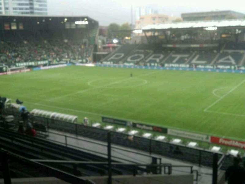 Seating view for Providence Park Section 222 Row K Seat 3