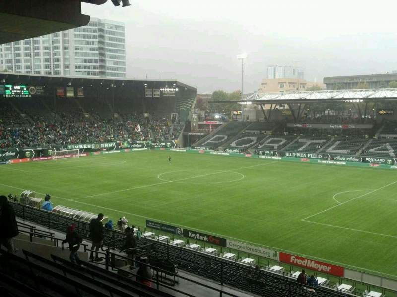 Seating view for Providence Park Section 223 Row L Seat 1