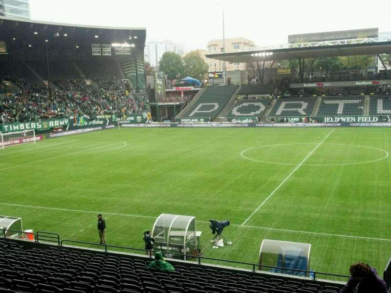 Seating view for Providence Park Section 118 Row Q Seat 22