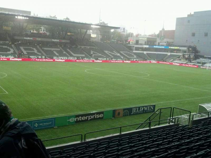 Seating view for Providence Park Section 214 Row L Seat 11