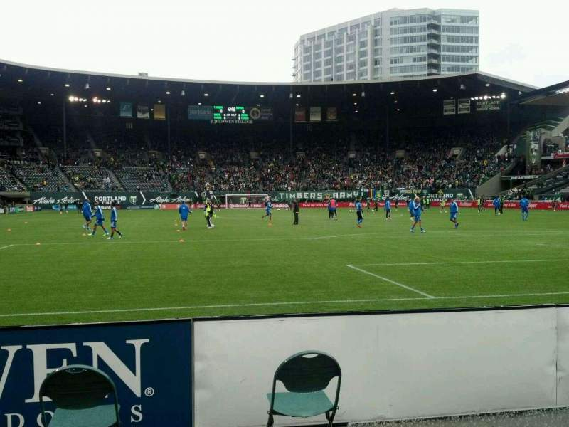 Seating view for Providence Park Section SD2 Row A Seat 16
