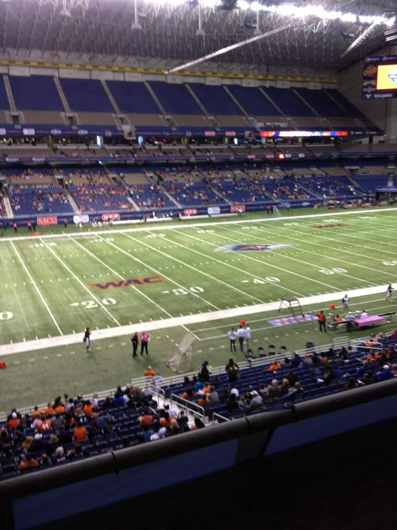 Seating view for Alamodome Section 215 Row 2 Seat 13