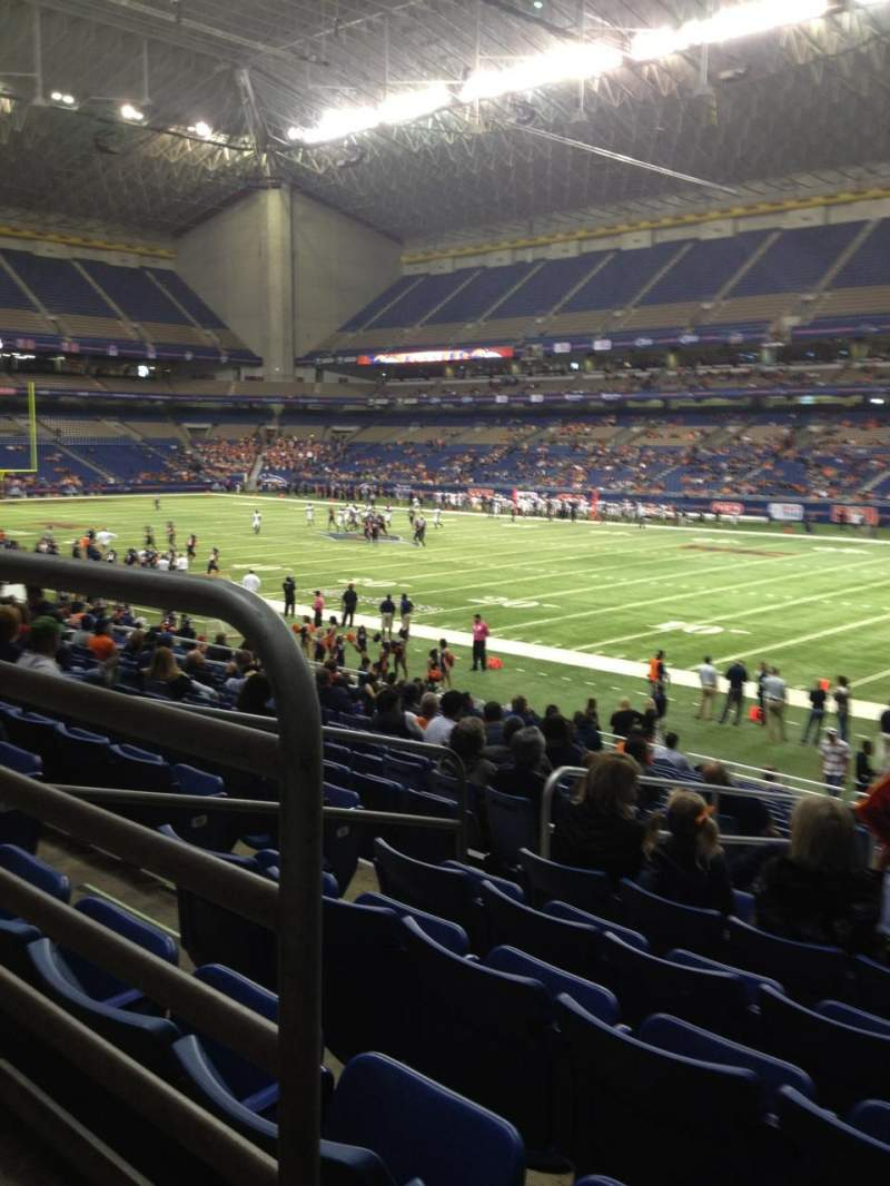 Seating view for Alamodome Section 107 Row 20 Seat 9
