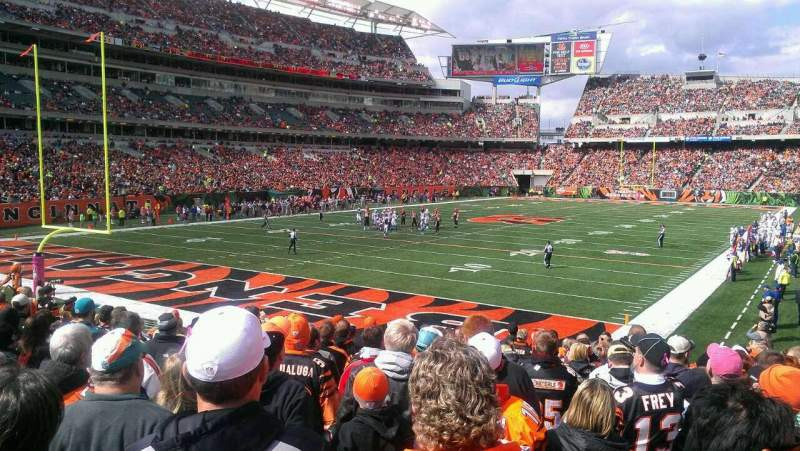 Seating view for Paul Brown Stadium Section 150 Row 16 Seat 7