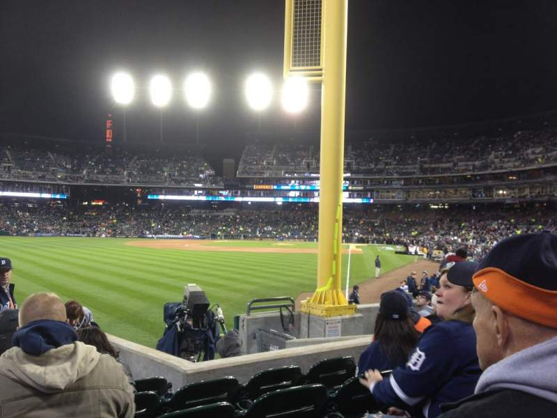 Seating view for Comerica Park Section 144 Row H Seat 10