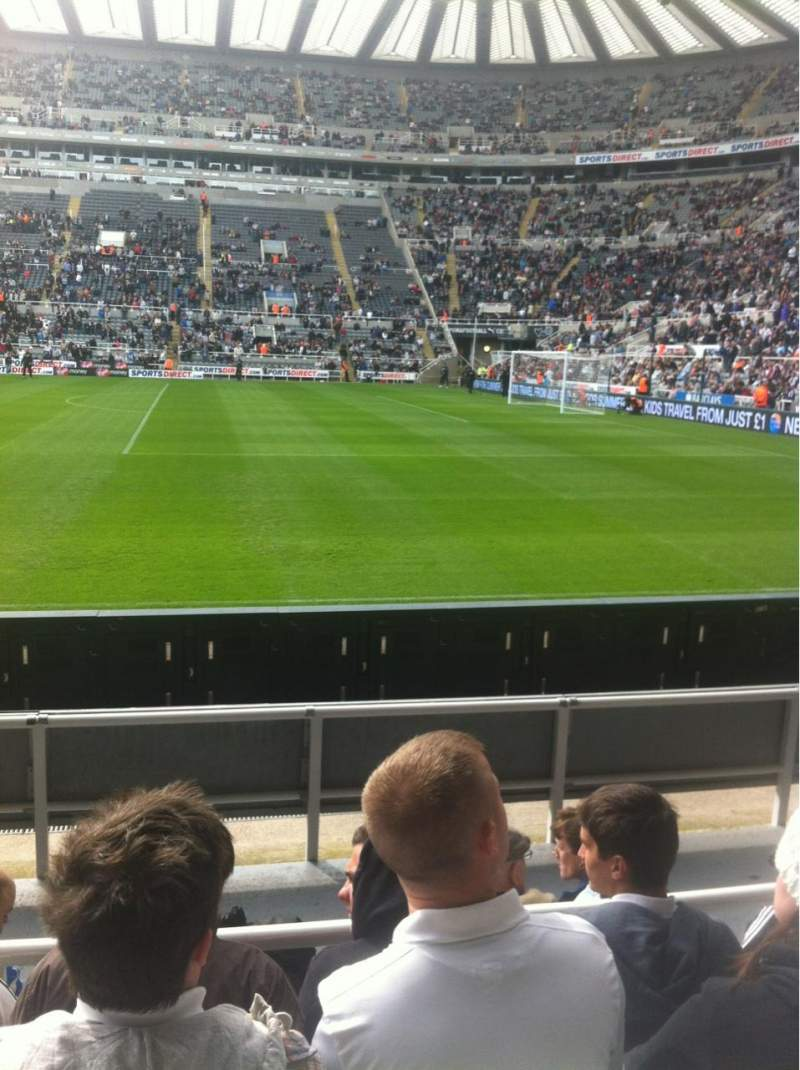 Seating view for St James' Park Section A Row F Seat 19