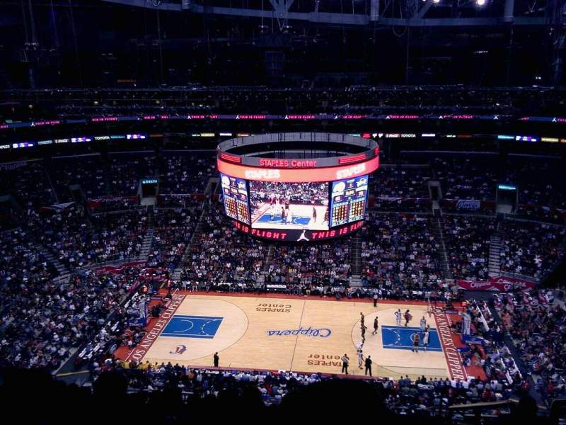 Seating view for Staples Center Section 301 Row 12 Seat 4