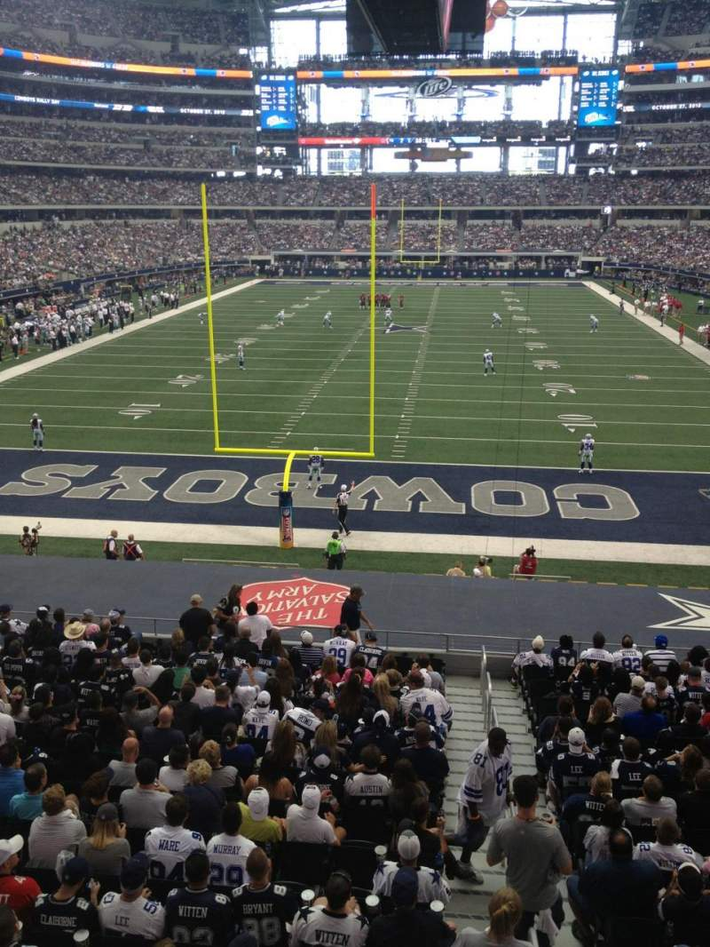 Seating view for AT&T Stadium Section 247 Row 1 Seat 7