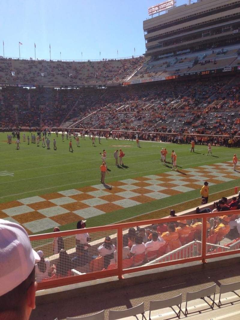Seating view for Neyland Stadium Section Z11 Row 6 Seat 14