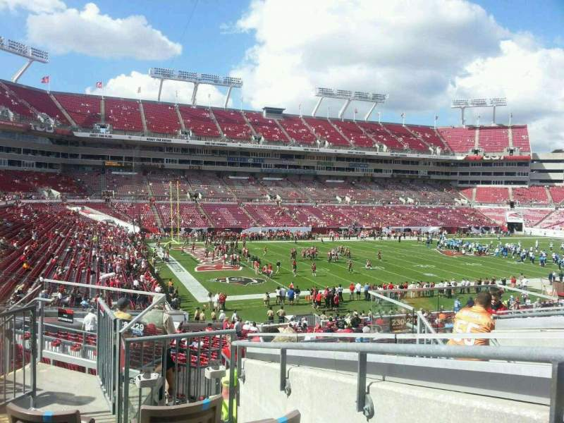 Seating view for Raymond James Stadium Section 230 Row H Seat 19