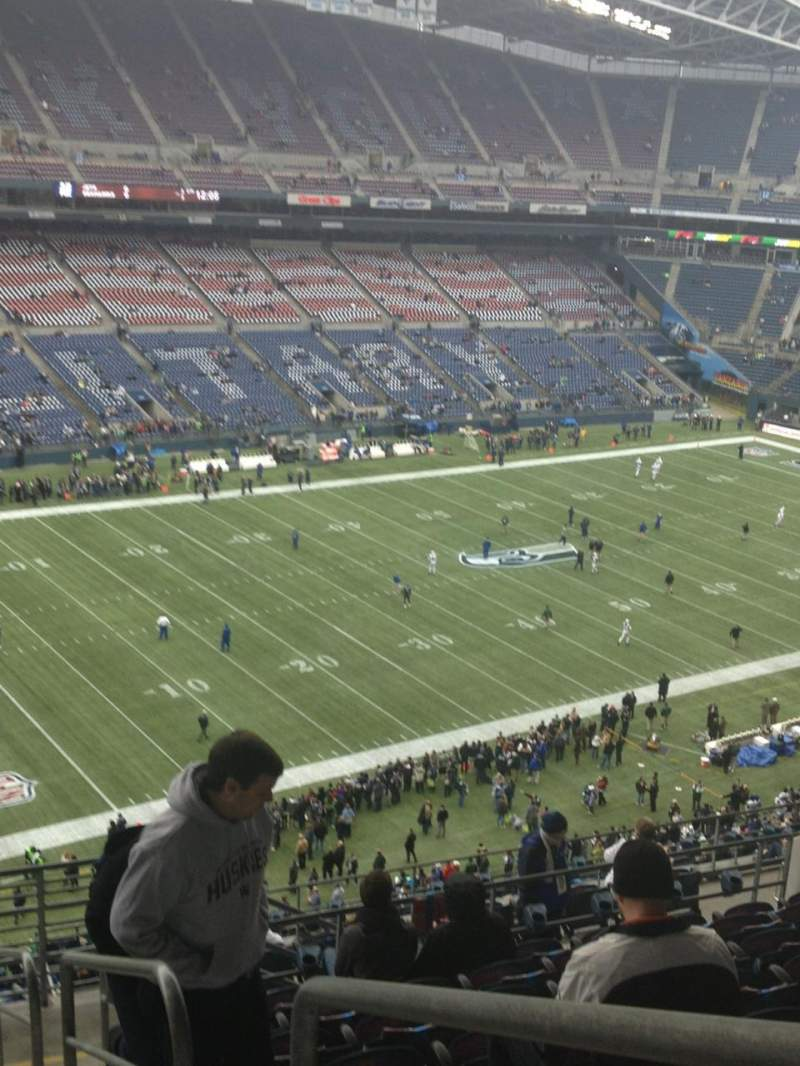 Seating view for CenturyLink Field Section 315 Row P Seat 1