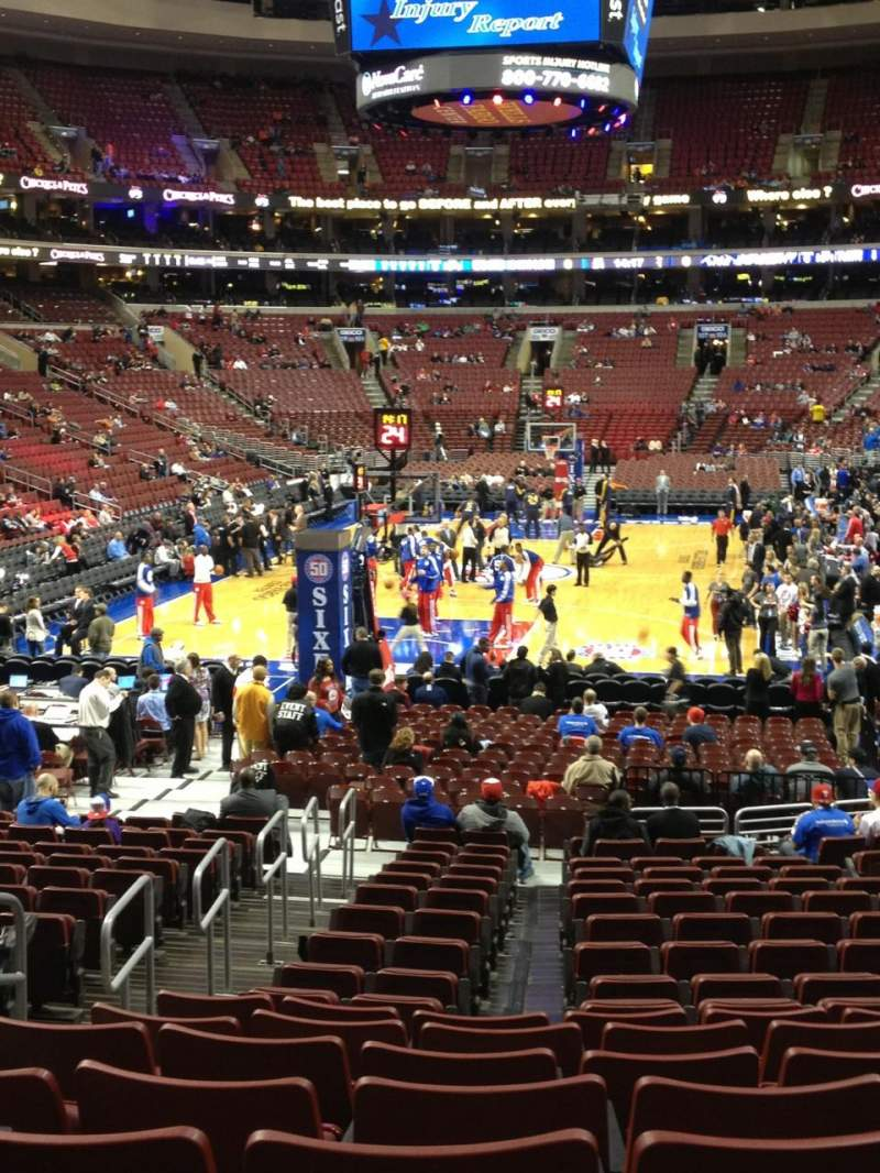 Seating view for Wells Fargo Center Section 120 Row 18 Seat 1