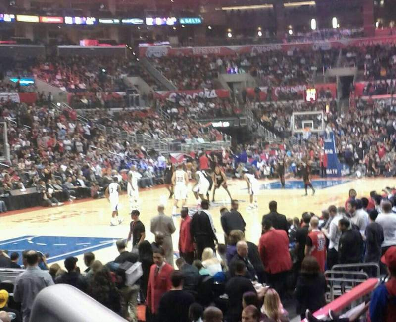 Seating view for Staples Center Section 105 Row 11 Seat 1