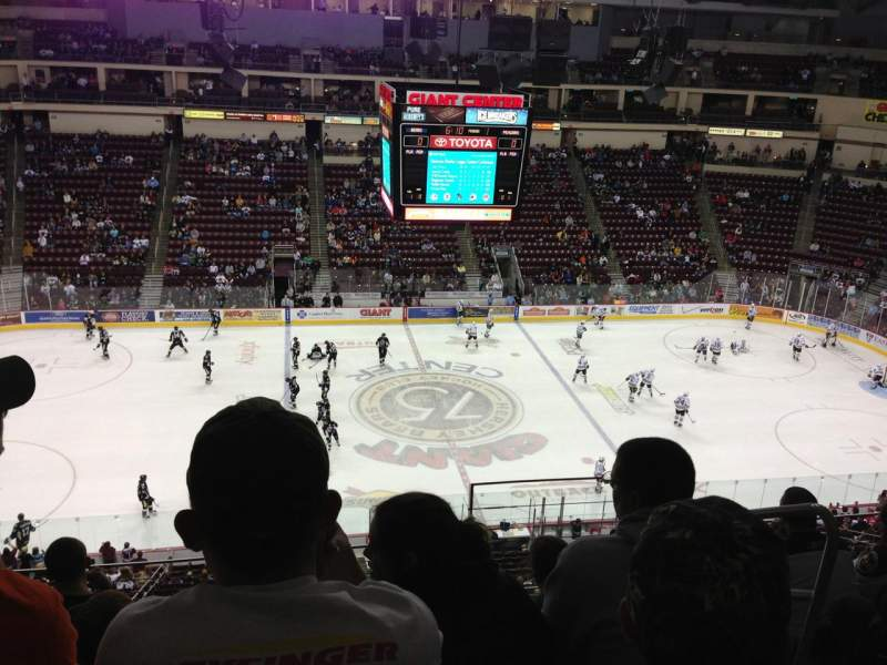 Seating view for Giant Center Section 206 Row F Seat 3