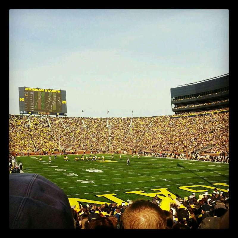 Seating view for Michigan Stadium Section 15 Row 19 Seat 31