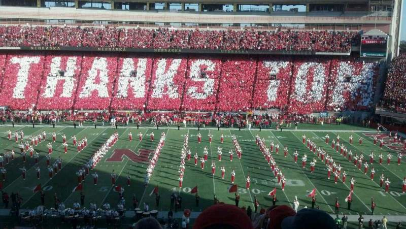 Memorial Stadium (Lincoln), section: 225, row: 5, seat: 13