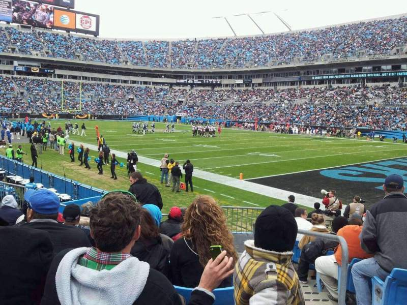 Seating view for Bank of America Stadium Section 126 Row 9 Seat 1