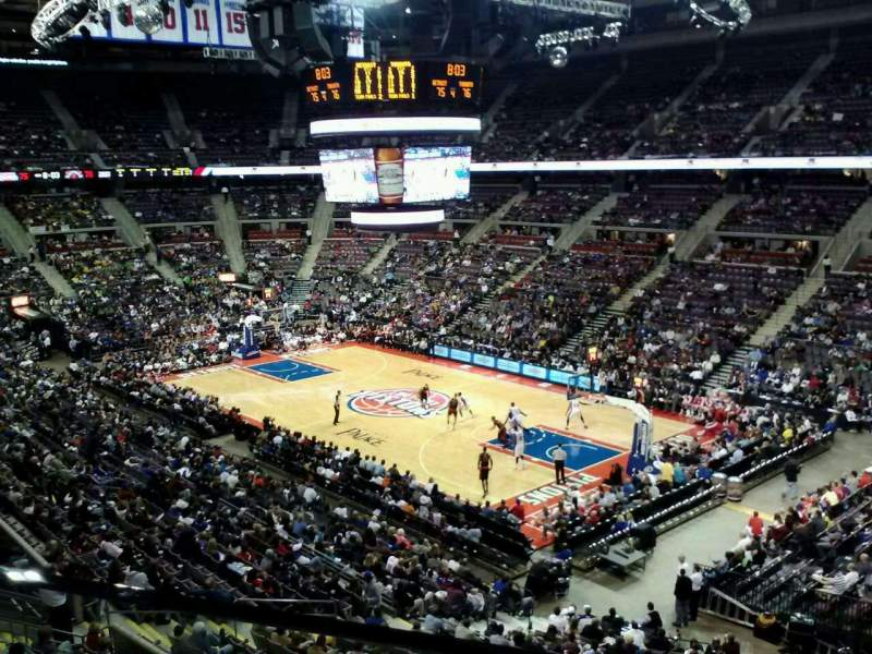 Seating view for The Palace of Auburn Hills Section 227 Row 1 Seat 5