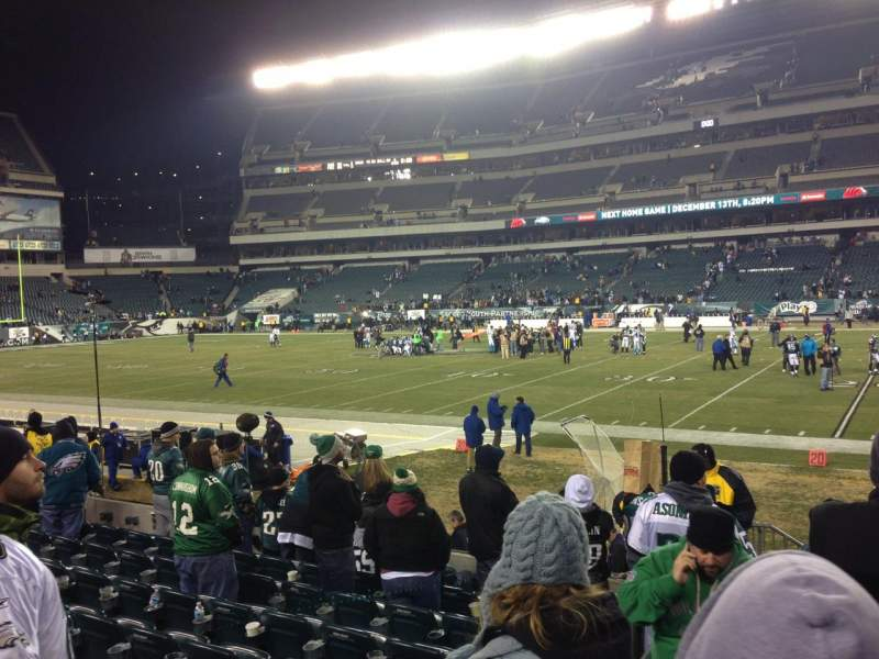 Seating view for Lincoln Financial Field Section 104 Row 9 Seat 20