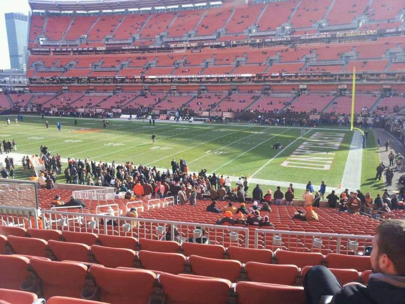 Seating view for FirstEnergy Stadium Section 138 Row 28 Seat 8