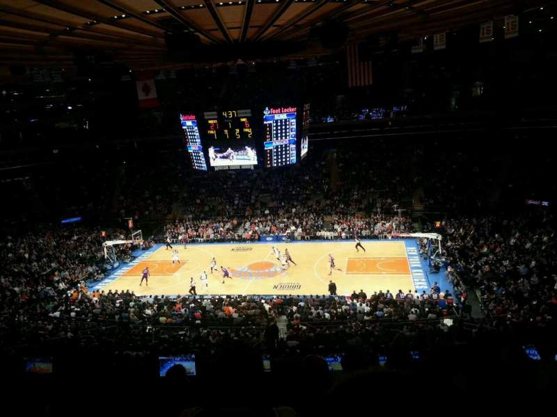 Seating view for Madison Square Garden Section 212 Row 7 Seat 9