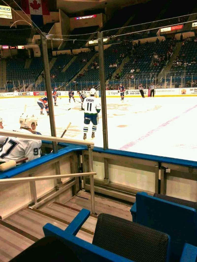 Seating view for XL Center Section 103 Row e Seat 15