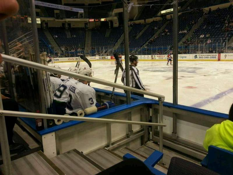 Seating view for XL Center Section 104 Row e Seat 15