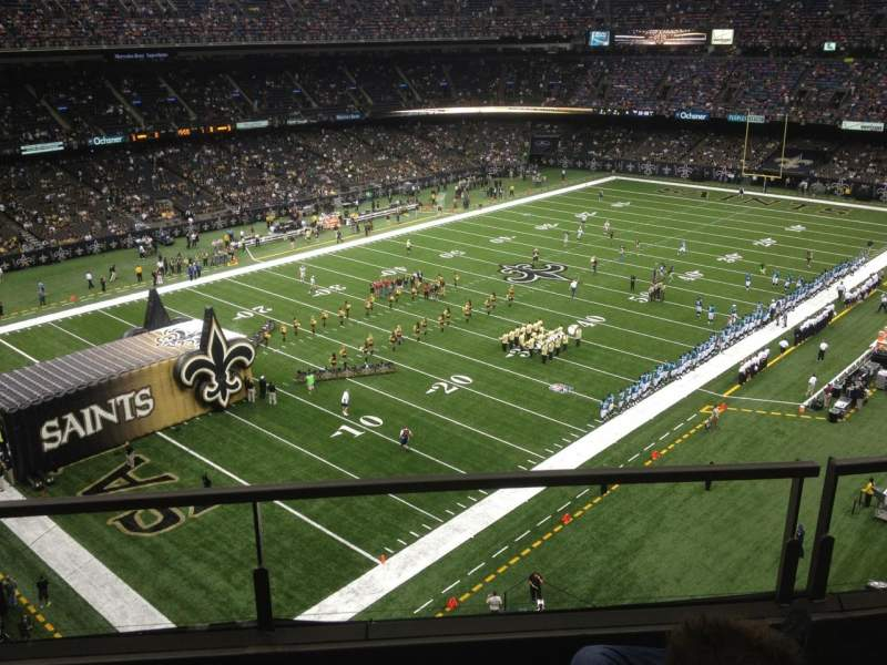 Seating view for Mercedes-Benz Superdome Section 234 Row 3