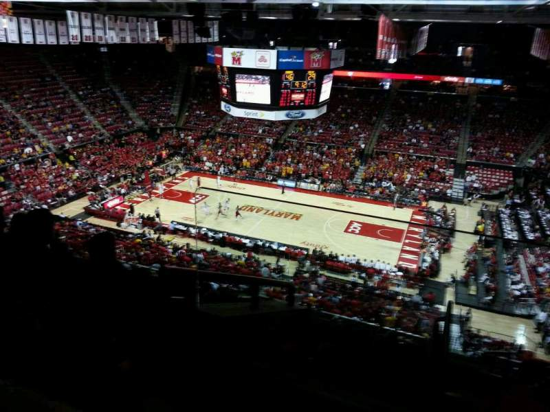 Seating view for Xfinity Center (Maryland) Section 203 Row 10 Seat 1