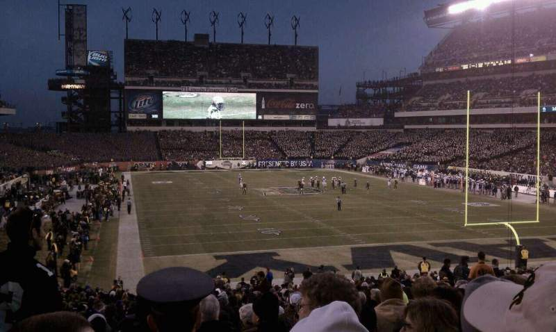 Seating view for Lincoln Financial Field Section 109 Row 34 Seat 14