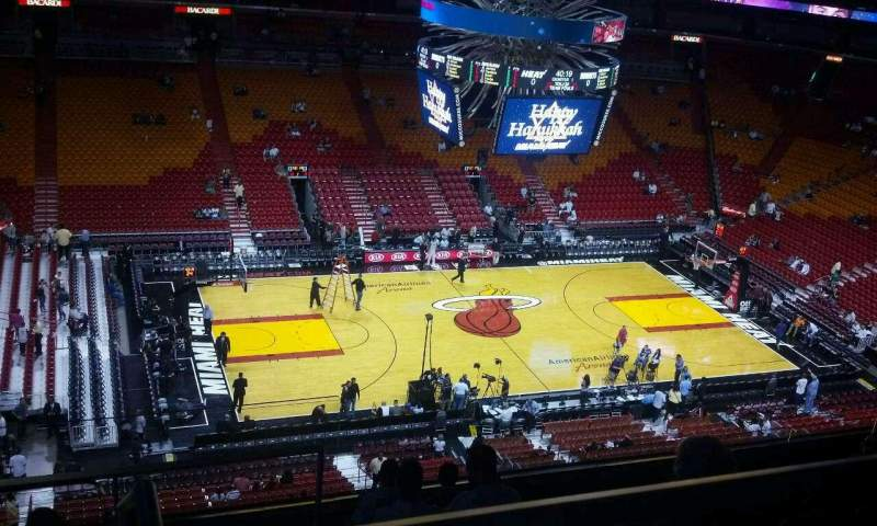 Seating view for American Airlines Arena Section 326 Row 9 Seat 18
