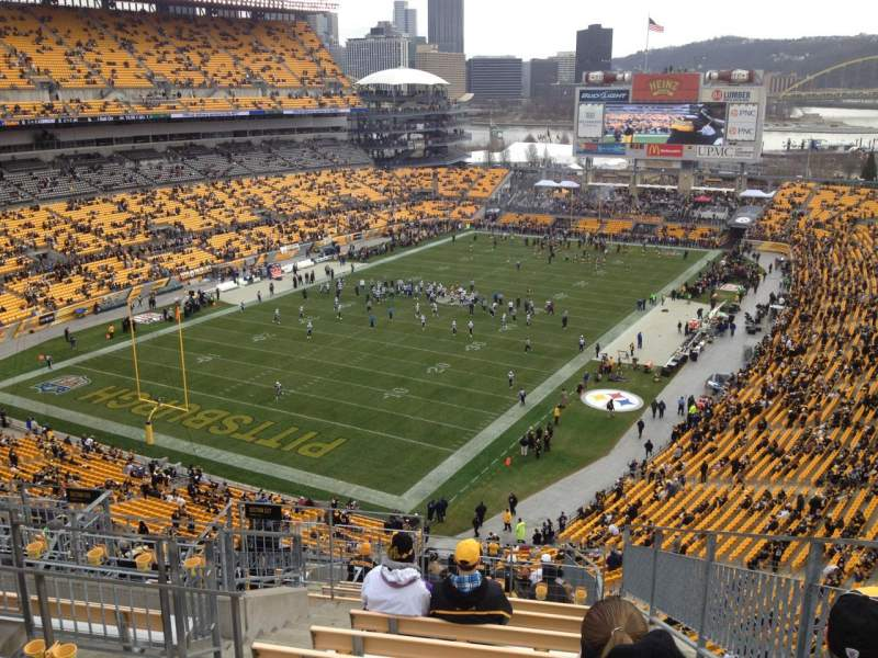 Seating view for Heinz Field Section 527 Row P Seat 2