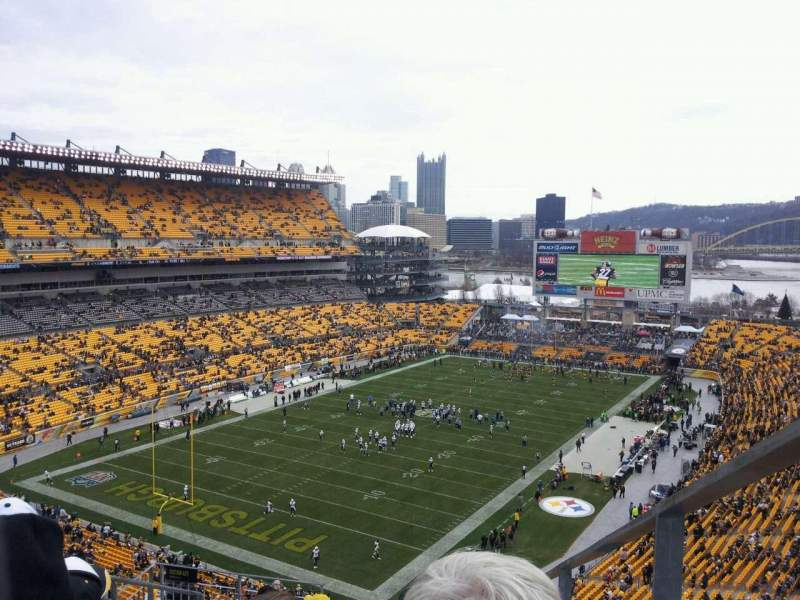 Seating view for Heinz Field Section 527 Row O Seat 1