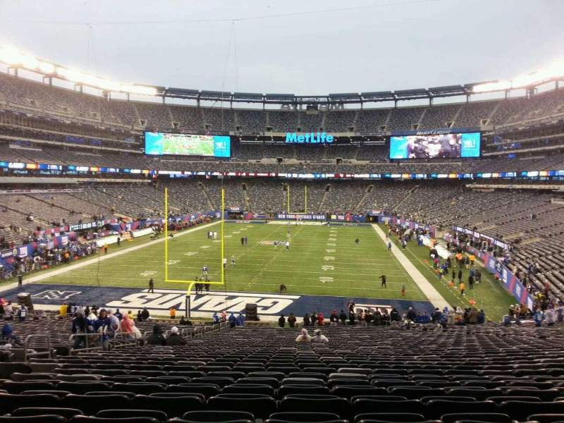Seating view for MetLife Stadium Section 124 Row 42 Seat 23