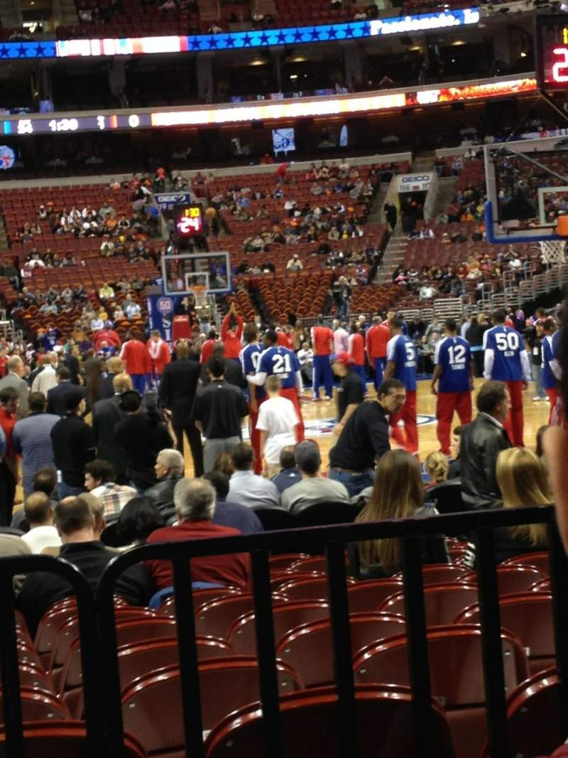 Seating view for Wells Fargo Center Section 106 Row 2 Seat 16
