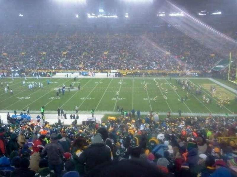 Seating view for Lambeau Field Section 126 Row 55 Seat 11
