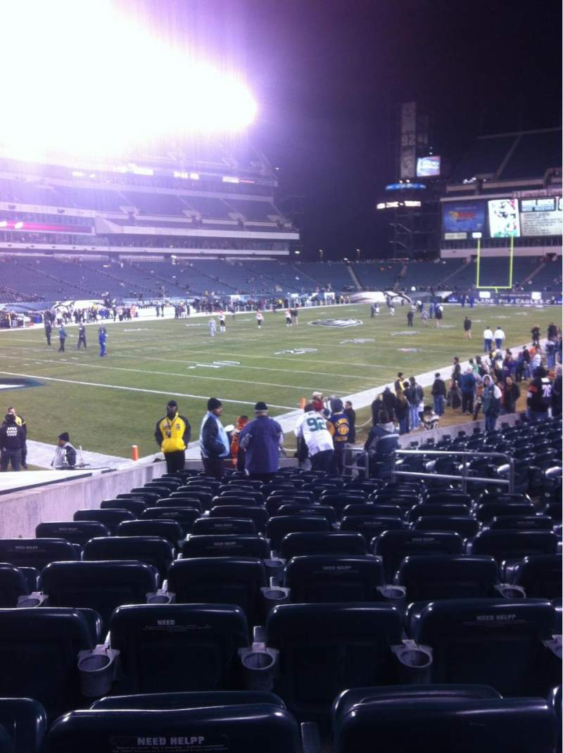 Seating view for Lincoln Financial Field Section 114 Row 15 Seat 10