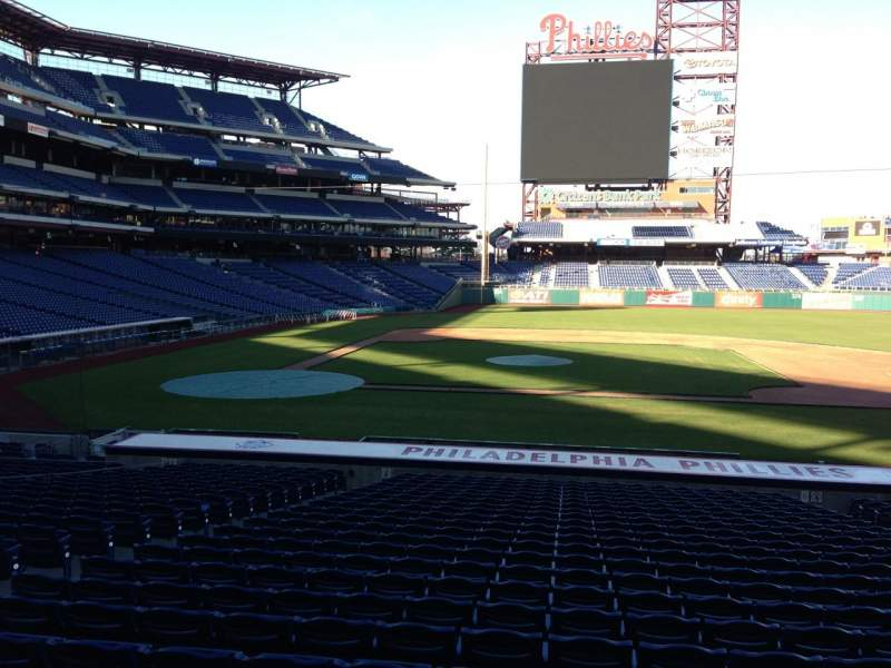 Seating view for Citizens Bank Park Section 117 Row 24