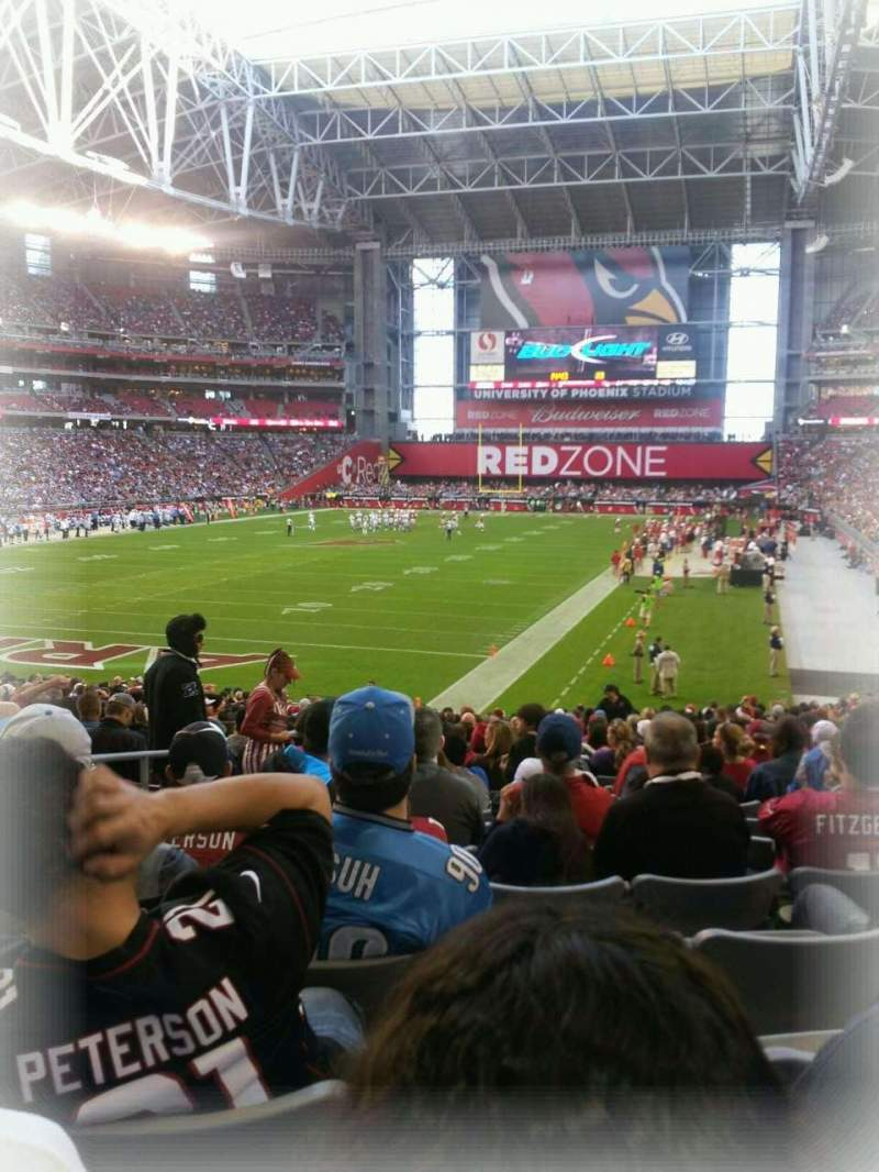 Seating view for University of Phoenix Stadium Section 116 Row 22 Seat 9